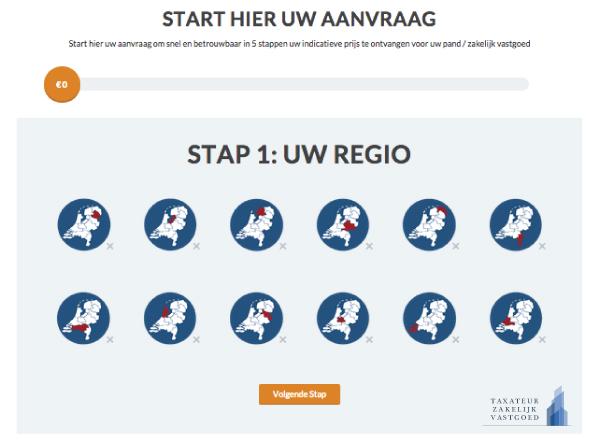 Uitleg Stap 1 Uw Regio bedrijfstaxatie